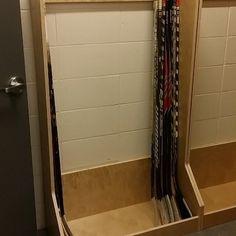 PlayerStall Stick Rack #hockeyfan #hockeyboy #pucklife #dangle #hockeygame #hockey #smashville #rockthered #sportslocker #sportslockers #sportslockerroom #hockeylockerroom #hockeylocker