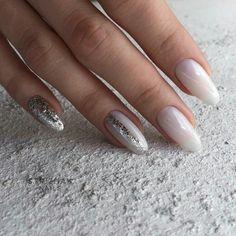 Pin on Nail art. Make-up tips. Pin on Nail art. Make-up tips. Blue Nails, White Nails, White Sparkle Nails, Acrylic Nail Designs, Acrylic Nails, Hair And Nails, My Nails, Nagellack Trends, Trendy Nail Art