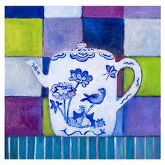 Mariska Meijers - Delft Blue Teapot, reproduction, 45x45cm