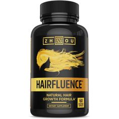 HAIRFLUENCE All Natural Hair Growth Formula For Longer Stronger Healthier Hair Scientifically Formulated with Biotin Keratin Bamboo More For All Hair Types Veggie Capsules ** Continue to the product at the image link. Best Hair Growth Vitamins, Healthy Hair Growth, Natural Hair Growth, Natural Hair Styles, Natural Vitamins, Stop Hair Loss, Hair Loss Remedies, Nutrition, Hair Regrowth