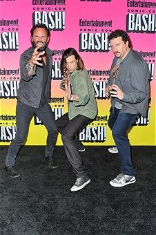 Actors Walton Goggins, creator Jody Hill and creator/actor Danny McBride attend Entertainment Weekly's Annual Comic-Con Party 2016 at Float at Hard Rock Hotel San Diego on July 23, 2016 in San Diego, California.