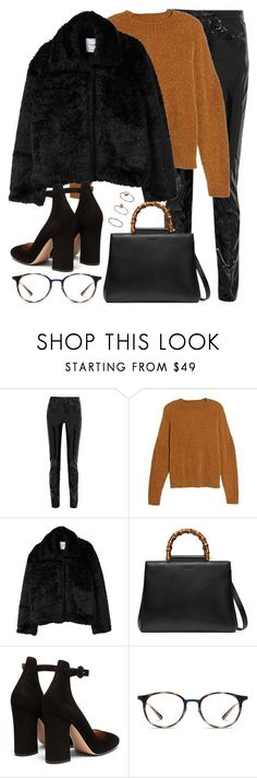 """""""Untitled #3278"""" by elenaday on Polyvore featuring Yves Saint Laurent, BP., MANGO, Gucci, Gianvito Rossi, Ray-Ban and Topshop"""