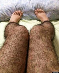 Hairy leg tights- gag gift-oh my gosh- this would be a perfect white elephant gift...maybe better than the lobster Carri??