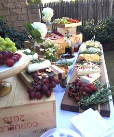 The Cheese Block Experience, just one of the style cheese tables we offer for your special event!! Www.thecheeseblock.com