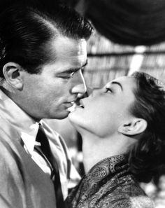Audrey Hepburn and Gregory Peck kissing on the set of Oscar winning Roman Holiday, Rome, 1953.