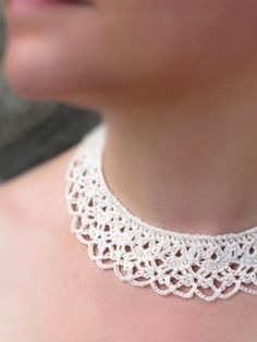 modernneedlepoint victorian crochet lace necklace