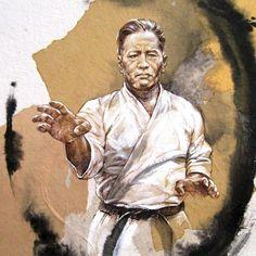 Happy Birthday Chojun Miyagi, founder of our style, Goju-Ryu Karate. Karate Academy, Goju Ryu Karate, Martial Arts Workout, Miyagi, Dojo, Okinawa, Mma, Statue, History