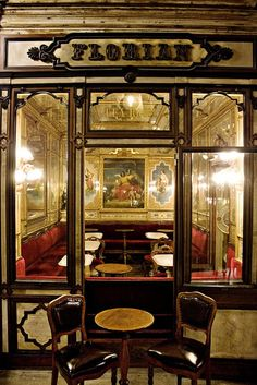 Caffè Florian, Piazza San Marco, Venice, established in 1720, the oldest coffee house in continuous operation.