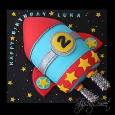 Rocket Cake | Blast off! Rocket space ship birthday cake | Stylishly Sweet Cakes | Flickr