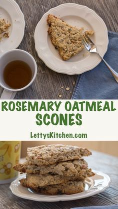 Flaky buttery Rosemary Oatmeal Scones with golden raisins. Great for ...