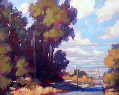 """David Mensing Fine Art - """"Sapience"""" (24x30) Lonely road stretches for miles outside of Elba, ID."""