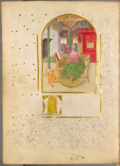 fifteenth-century monk living in southwest Germany tested ideas for the creation of illuminated manuscripts. The book, known as The Illuminated Sketchbook of Stephan Schriber, is held by the Bavarian State Library in Munich.