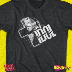 Billy Idol Cross It Out Black Children/'s T-Shirt