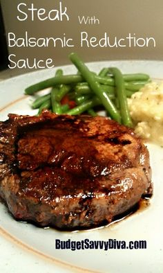 Steak Rub Recipe + Balsamic Reduction Sauce Recipe