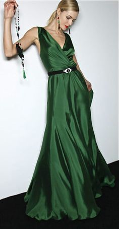 Ralph Lauren dress in a gorgeous emerald