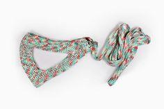 Hand made pet harness and leash set Crochet cat harness Green