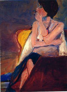 Richard Diebenkorn, Girl Smoking, 1963
