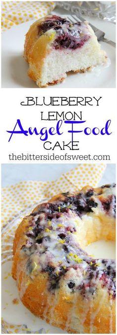 Blueberry Lemon Angel Food Cake - The Bitter Side of Sweet