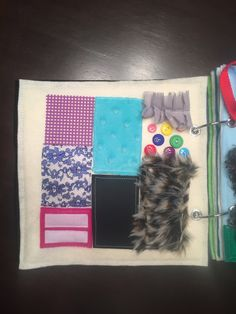 Texture Quiet Book Page by HannasQuietBooks on Etsy