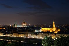 Duomo e S. Croce di notte
