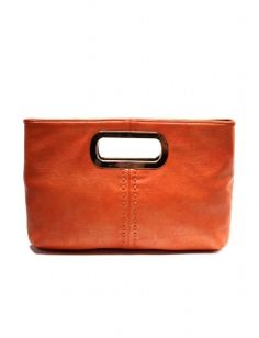 CutOut Clutch - Orange $44 at The Limited