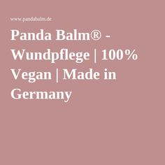 Panda Balm® - Wundpflege | 100% Vegan | Made in Germany