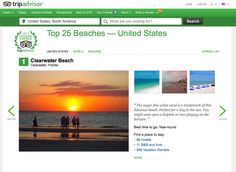 ALENA VACATION HOME  2016 Travel Choice TripAdvisor  Top 25 Beaches - United States  #1  -  CLEARWATER BEACH #4  -  ST.PETERSBURG BEACH   Very good news the two beaches just 30-40 miles from my vacation resort   http://www.tripadvisor.com/TravelersChoice-Beaches-cTop-g191 http://www.alenavacationhome.com/beach/beaches.html
