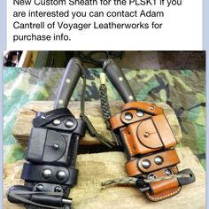 Pathfinders- Dave Canterbury - These sheaths look very cool. I want one! #survivalknife