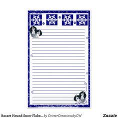 Basset Hound Tricolor Merry Christmas Stationary! Stationery Design