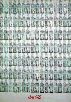 100 Coke Bottles (1962) by Andy Warhol.