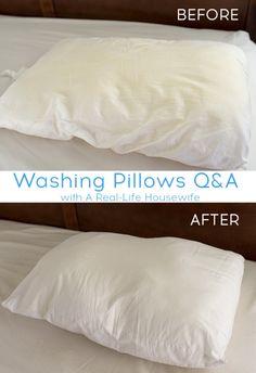 machine wash feather pillows