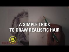 Draw Realistic Hair WITHOUT Drawing Every Hair (Touchable Textures #5) - YouTube
