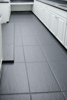 Painting Ceramic Tile Floor, Painting Bathroom Tiles, Tile Floor Diy, Painting Tile Floors, Bathroom Floor Tiles, Tile Floor Designs, Tile Over Tile, Tiling, Painted Kitchen Floors