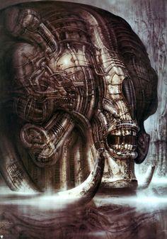 Necronom III by H.R. Giger (Hans Rüdi Giger) #hrgiger #scifi #sciencefiction #art #surreal #surrealism