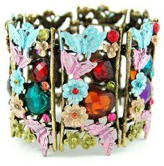 flower stone encrusted bracelet