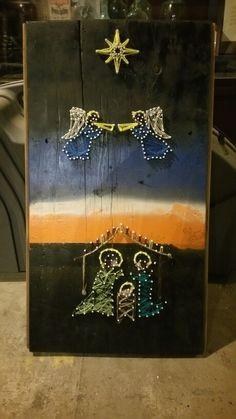 Christmas Nativity scene string art