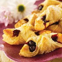 Blueberry Croissants are the perfect balance of fruity goodness and flakey breakfast pastry.