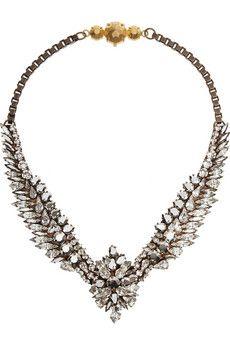 Shourouk Tabatha Comet gold-tone Swarovski crystal necklace | NET-A-PORTER