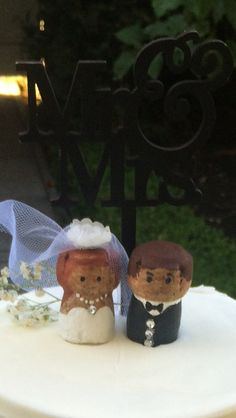 Champagne cork wedding cake topper I made for my son and daughter in law