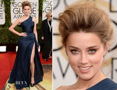 Amber Heard In Atelier Versace – 2014 Golden Globe Awards
