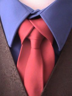 """knots - Google Search Here's a unique and rather simple knot for your tie it's called the Ediety Knot. Instructions can be found on Pintrest Board """"TIE KNOTS""""."""
