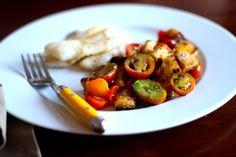 Filetes de Peixe com Ervas da Provença e Salada de Panzanela