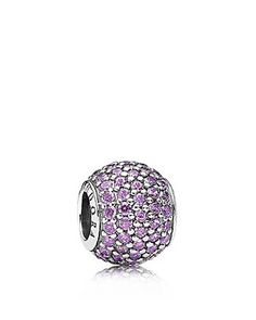 PANDORA Charm - Sterling Silver & Purple Cubic Zirconia Pave Lights |