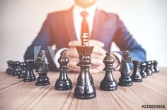 Retro style image of a businessman with clasped hands planning strategy with chess figures on an old wooden table. - Buy this stock photo and explore similar images at Adobe Stock Harvard Business Review, Leg Work, Wooden Tables, Retro Fashion, How To Become, Things To Come, Stock Photos, Stuff To Buy, Image