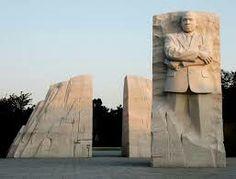 La statut de Martin Luther King à Washinton Dc , dans le National Park.