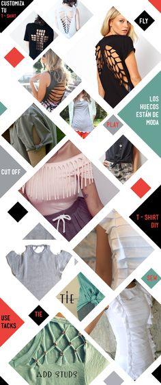 DIY-cómo customizar una camiseta para estar a la moda, de forma facil, sencilla http://idoproyect.com/blog/camisetas-diy-con-cortes-y-tachuelas/