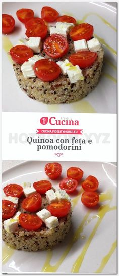 Quinoa with feta and cherry tomatoes from our user Giada.- Quinoa with feta and cherry tomatoes from our user Giada. Join our community and send your recipes! rezepte gesund abnehmen Quinoa with feta cheese and cherry tomatoes Diet Plans To Lose Weight, How To Lose Weight Fast, Lose Fat, Couscous Quinoa, Quinoa Diet, Quinoa Salad, Best Pregnancy Foods, Feta, Man Food