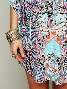 Free People + Mara Hoffman Dream Sequence Printed Poncho at Free People Clothing Boutique