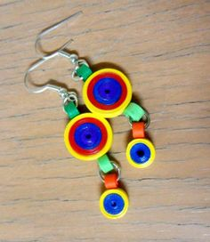 Long  Circles Quilled Earrings