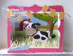 In een van de stempel setjes van Hetty Meeuwsen zat het leuke tekstje 'BOERA!!!'. Tja en toen ik deze lieve koe van Eline zag moest ik ge...